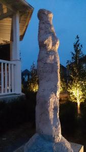 Sculpture At Dusk