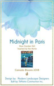 Midnight in Paris Garden of the Year 2018 Canada Blooms